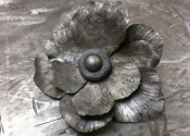 Simon Bushell - forged Anenome flowers