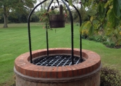 Well cover and overthrow with barley twists and scrollwork - Solihull