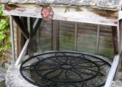Well covers by Ironart of Bath - Flower design