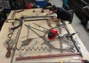 Zero Degrees Gate, Bristol - in the Ironart workshop in Larkhall, Bath
