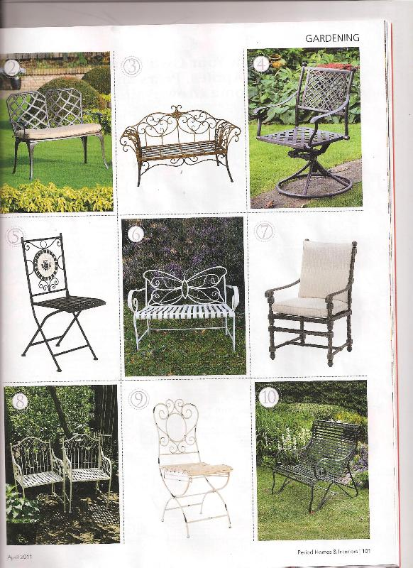the lansdown bench in period homes interiors april 2011 ironart of bath. Black Bedroom Furniture Sets. Home Design Ideas