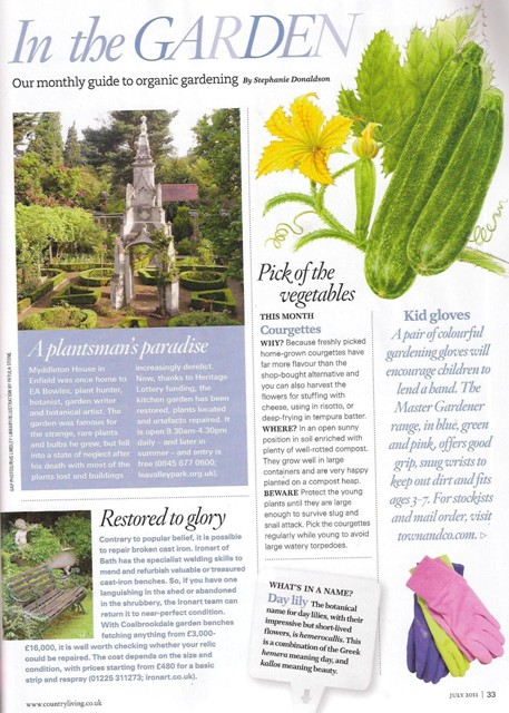 Read about ironart in country living magazine ironart of for Country living gardener magazine website