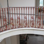 Cast iron panels in situ at Tockington