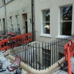 Wrought iron railings in Grosvenor Place, Bath