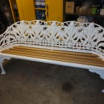 Lily of the valley bench after restoration