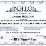 Jasons NHIG certificate