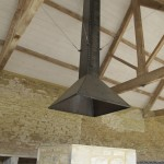 Bespoke metal fire hood for granary
