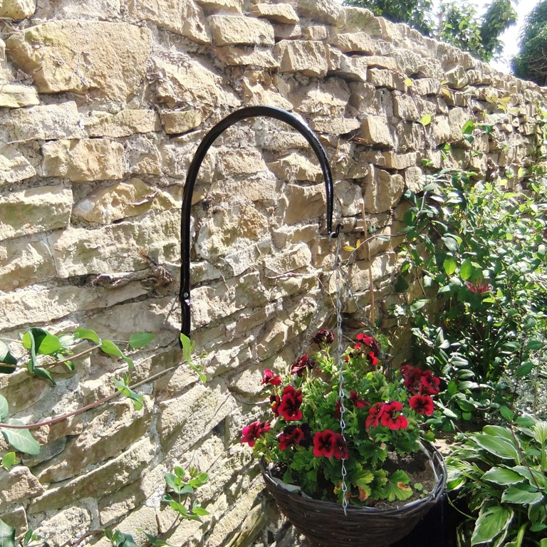 Arched hanging basket brackets
