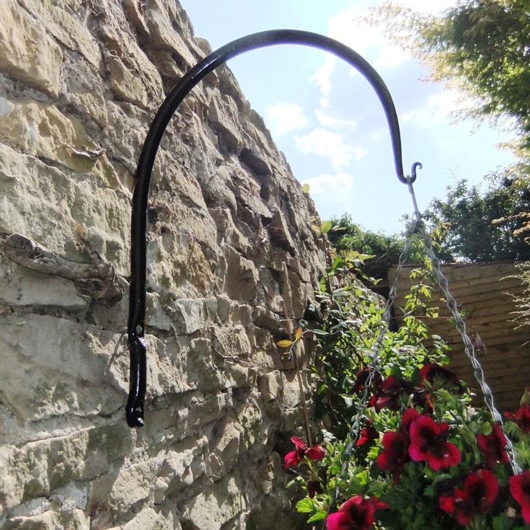 Arched hanging basket brackets