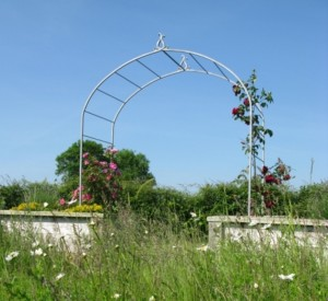 Faulkland Garden arch with finial detail