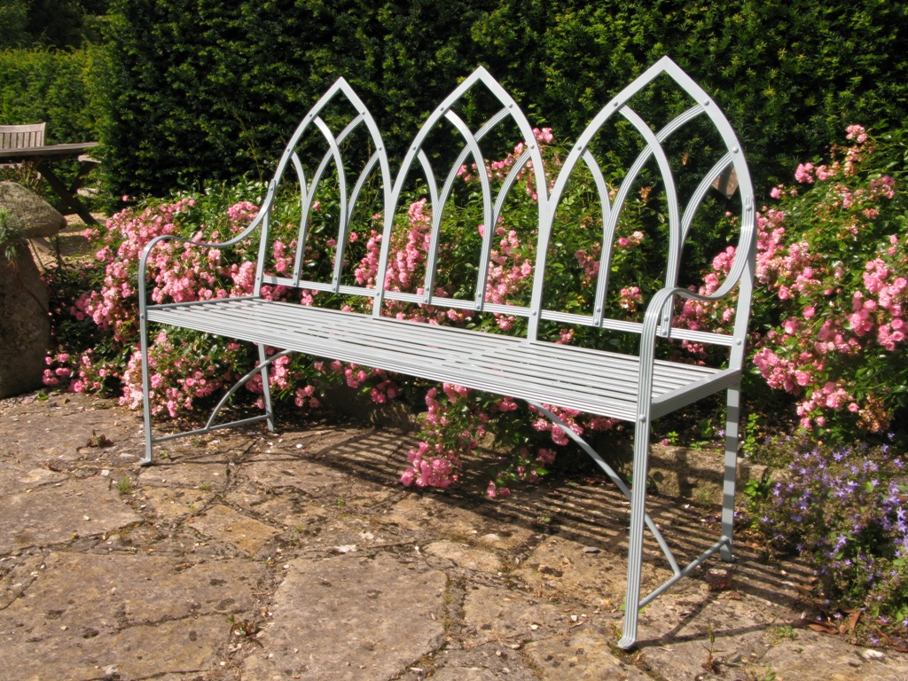 Gothic Three Seat Bench