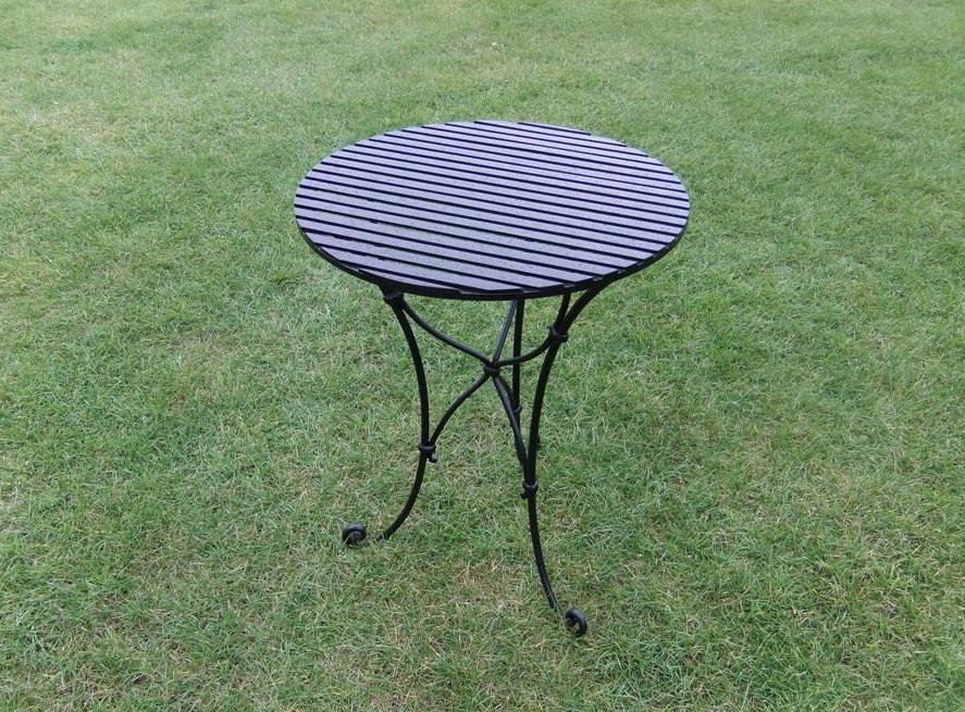 Slatted Top Cafe Table