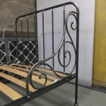 Wrought iron childs bed (3)