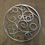 Decorative wrought iron well cover by Ironart of Bath