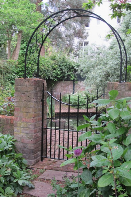 Garden gate with arch in Maida Vale London Ironart of Bath