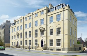 Artists impression of the Ashford Homes development on Bathwick Street, Bath