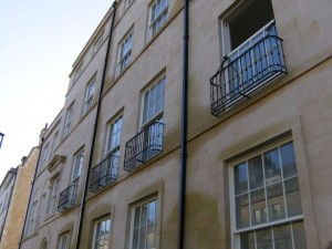 Bathwick Street balconettes for Ashford Homes, Bath