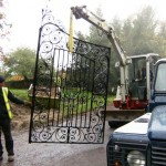 Installation of the restored Wincanton Gates