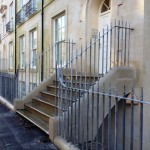 Ironart wrought iron gates, railings and balconettes for Ashford Homes, Holburne Place in Bath