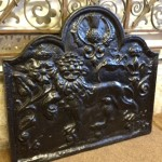 Cast iron fire back restoration