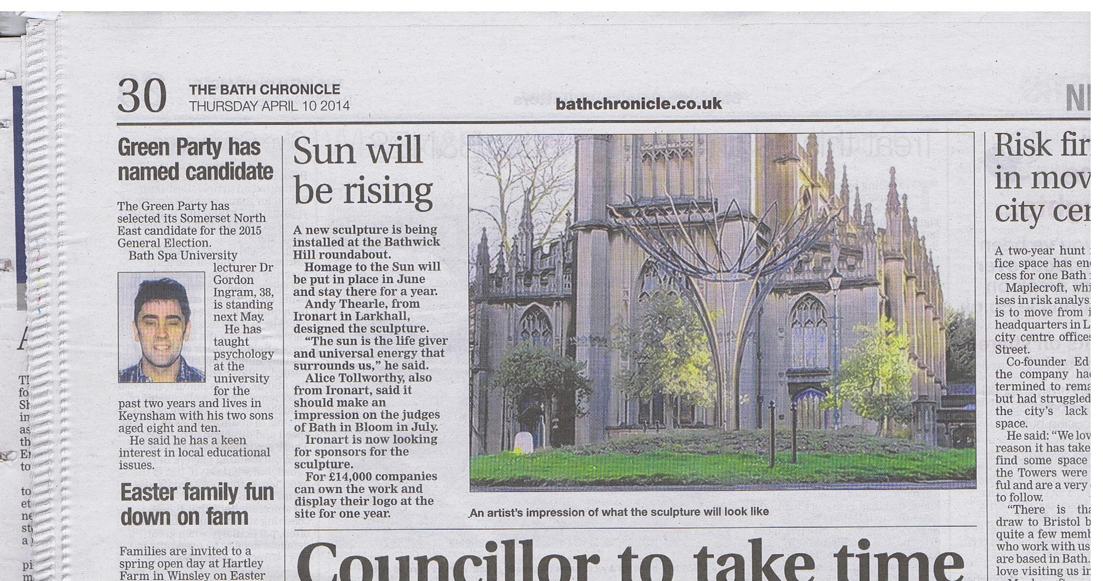 Bath Chronicle 10th April 2014