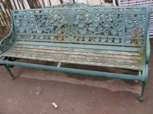 Cast iron bench repairs (2)