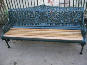 Cast iron bench repairs (3)