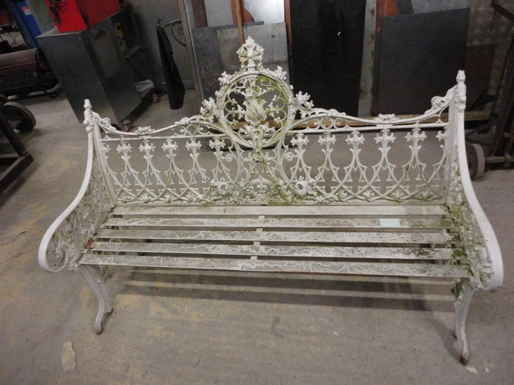 ... Cast Iron Bench Repairs (7) ...