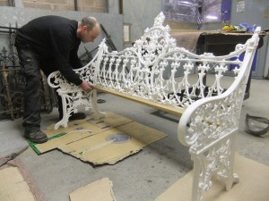Cast iron bench repairs (8)