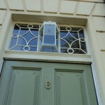 Replica fanlight above a front door