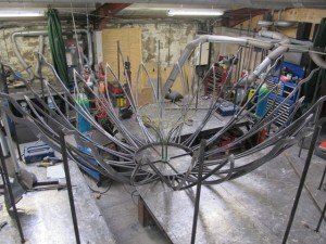 The Sun Flower under construction (1)