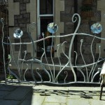 Contemporary forged garden panel - Ironart of Bath