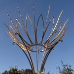 The Bathwick Hill Sun Flower sculpture