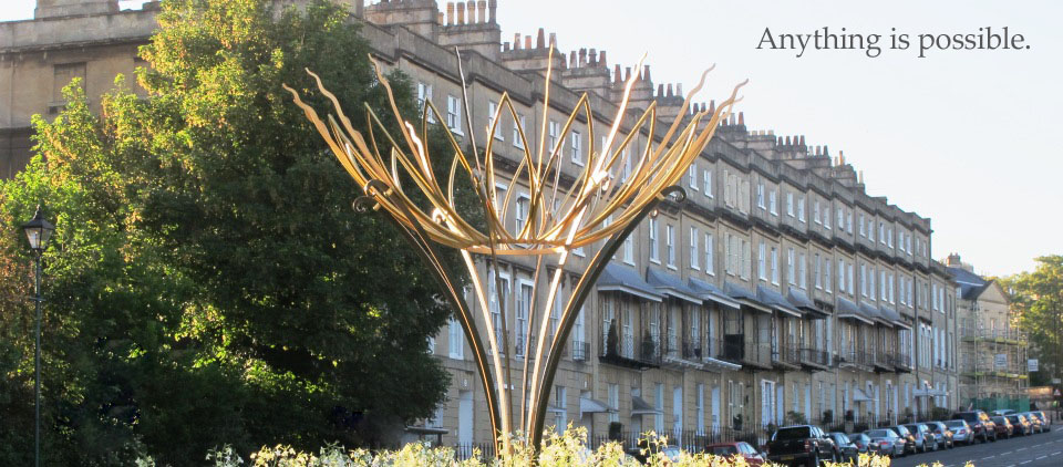 Bathwick Hill Sun flower sculpture