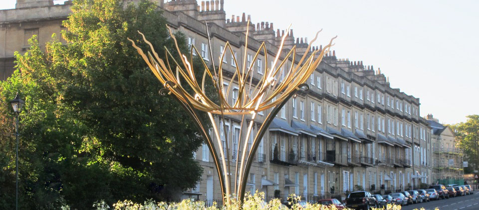 Ironart Bathwick Hill Sunflower Sculpture 2014