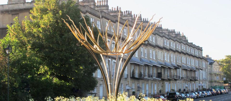Ironart Bathwick Hill Sunflower Sculpture 2014