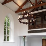 Medieval style barn chandelier - bespoke lighting by Ironart of Bath