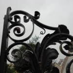Restoration of the historic iron gates at Burwalls, Bristol