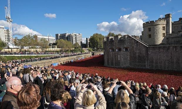 Blood swept lands and seas of red - Poppy installation at the Tower of London