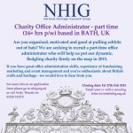 NHIG Charity Administrator Job advert 2015