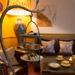 The Abbey Hotel Bath - bespoke cake stands. Photography by Jamie Curtis of Bloom studios
