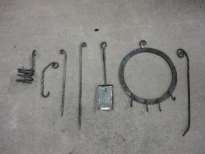 Blacksmithing course - pieces