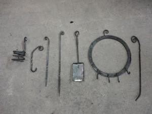Blacksmithing course - pieces