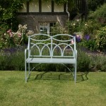 Hoopback two seat garden bench by Ironart