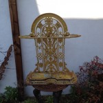 Cast iron umbrella stand repairs (2)