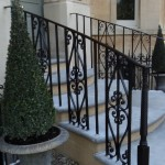Scrollwork handrail in Weston, Bath