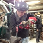 Stacey Hibberd - student blacksmith