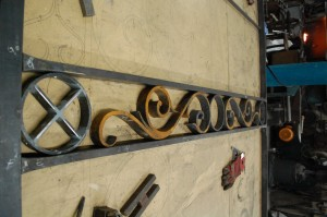 Scrollwork within horizontal mid rails