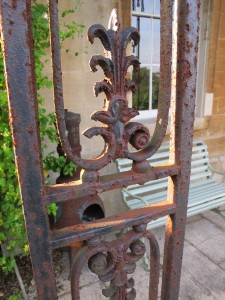 4. Wrought iron frame with cast iron infill