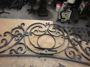 Wrought iron overthrow